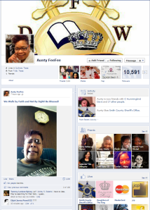 A snapshot of Aunty FeeFee's Facebook page
