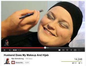 Husband does makeup