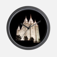 salt_lake_temple_lit_up_at_night_wall_clock